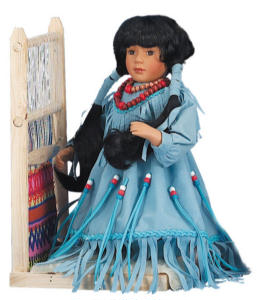 14'' Weaving Girl blue